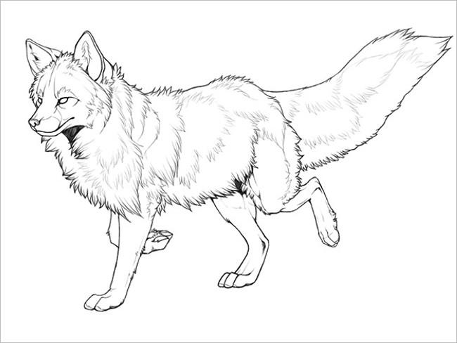 Responsive Fox Line Art Design