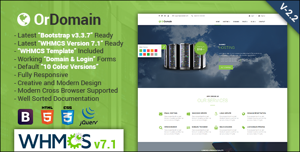 Responsive Hosting Website Template
