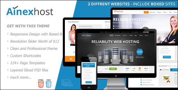 Responsive Marketing Hosting Template