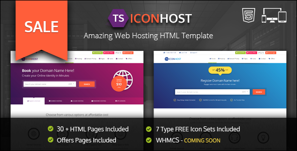 Responsive Web Hosting Template Bootstrap