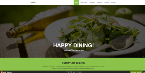 Restaurant HTML 5 Website Template