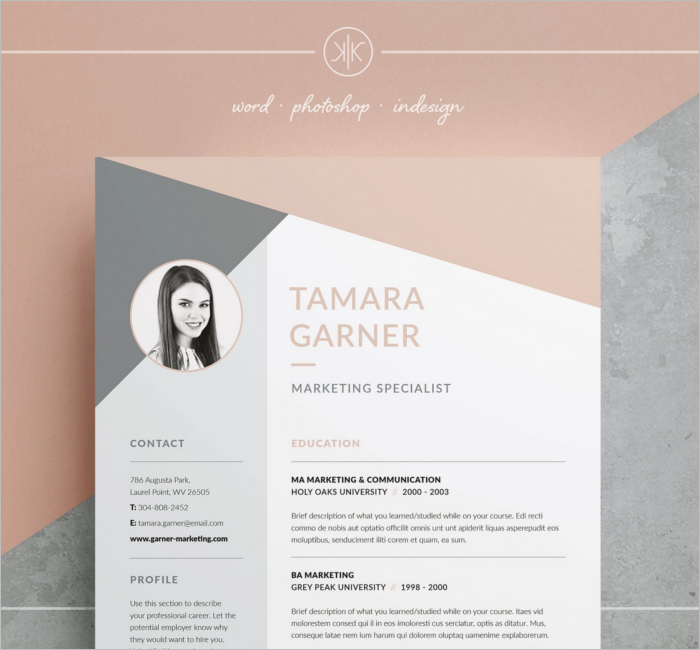 Resume Application Design Template