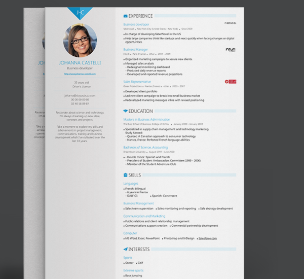 Resume Builder Excel Template
