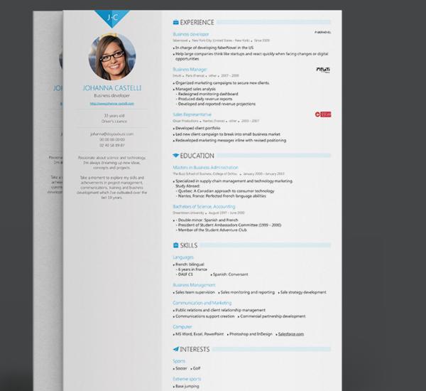 Resume Builder Excel Template