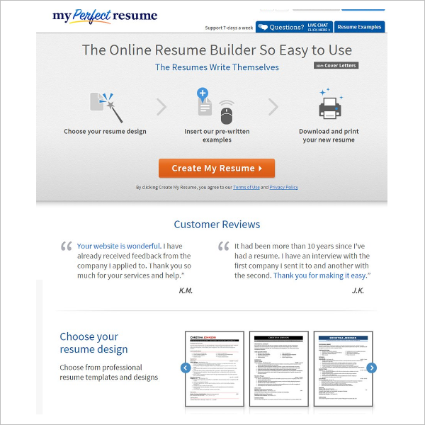 Resume Builder Model Template