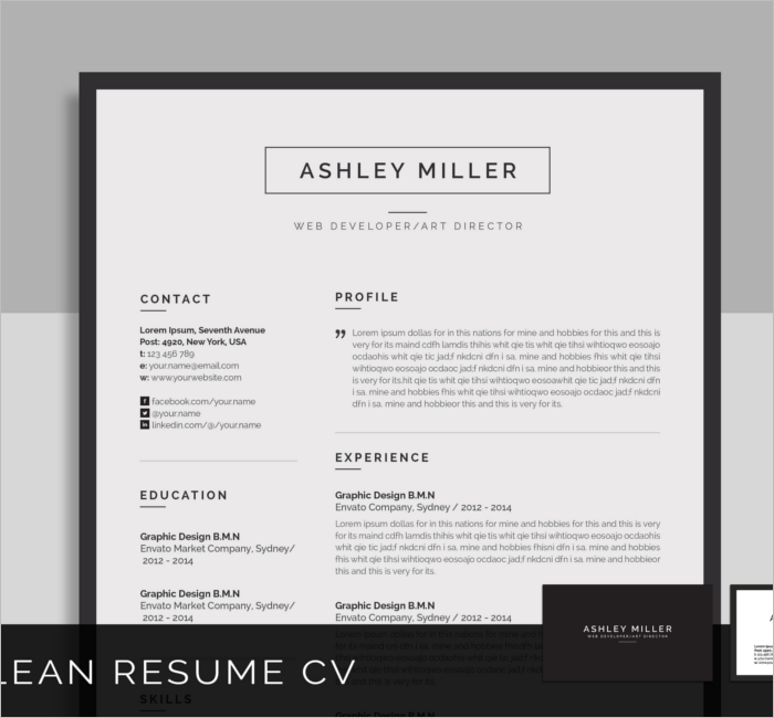 resume cover letter design template