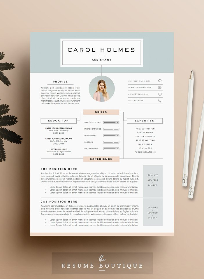 Resume Design Page Template
