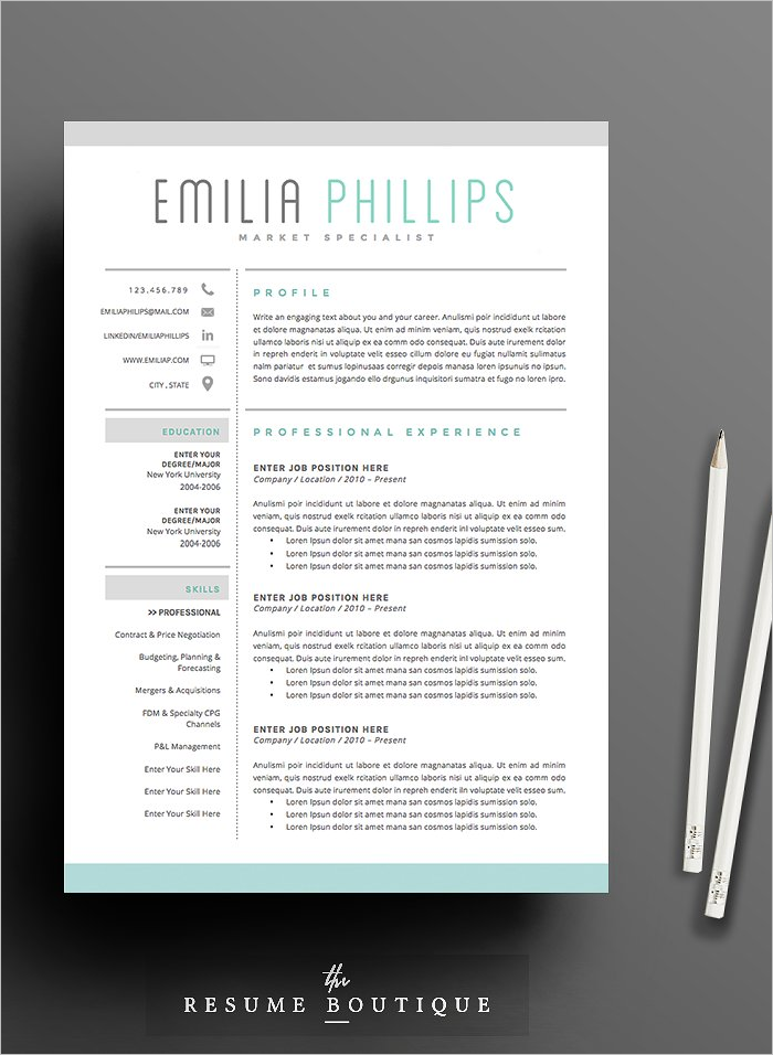 Resume Market Design Template