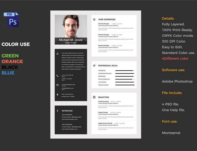 Resume Material Design Template