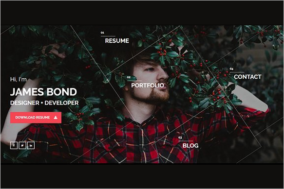 Resume WordPress HTML 5 Template