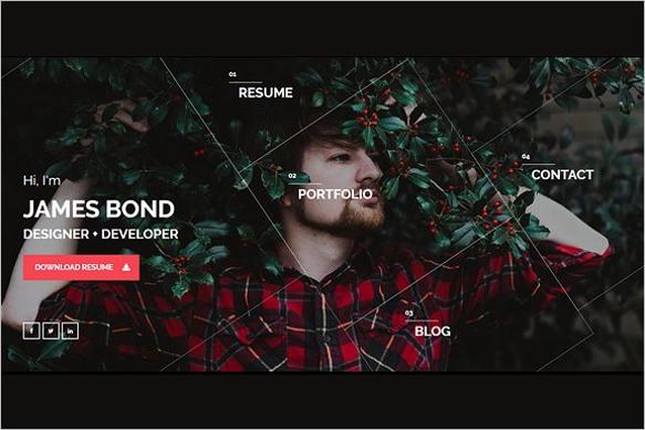 Resume WordPress HTML 5 Template