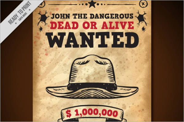 Reward Wanted Poster Template