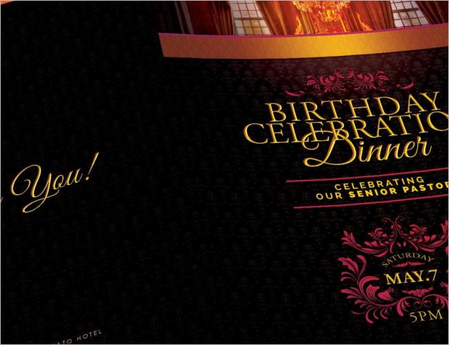 Royal Birthday Celebration Ticket Design