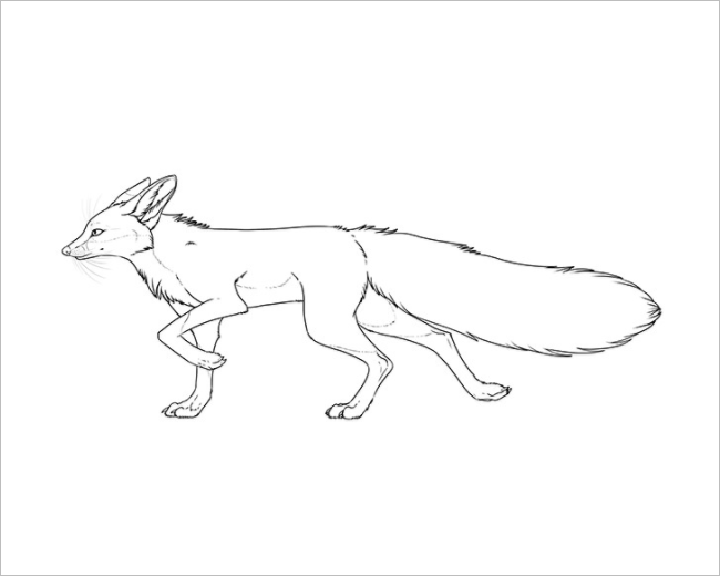 Running Fox Template