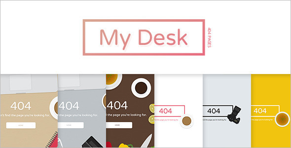 SVG 404 Error Pages Website Template