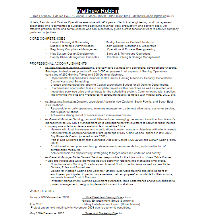 Sample Administrative Assistant Resume Template
