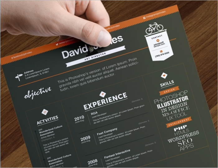 sample creative resume template - Creative Resume Design Templates