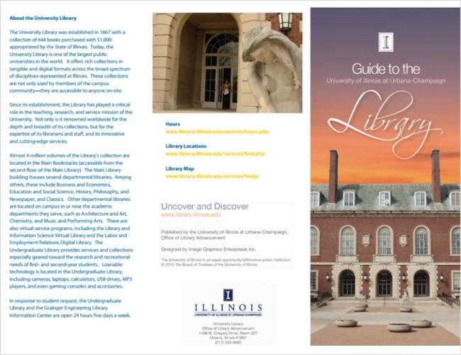Sample Library Brochure Design