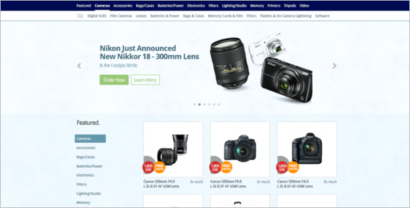 Sample PSD eCommerce Template