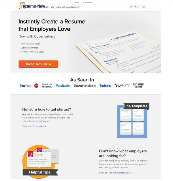 Sample Resume Builder Template