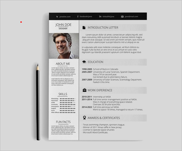 Sample Resume MAC Template