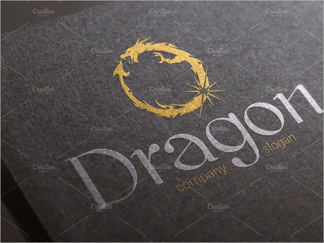 Reduced Dragon Logo Template