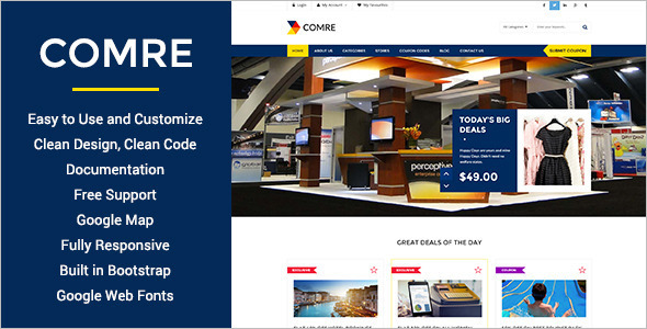 Selected Offer Coupon Website Theme