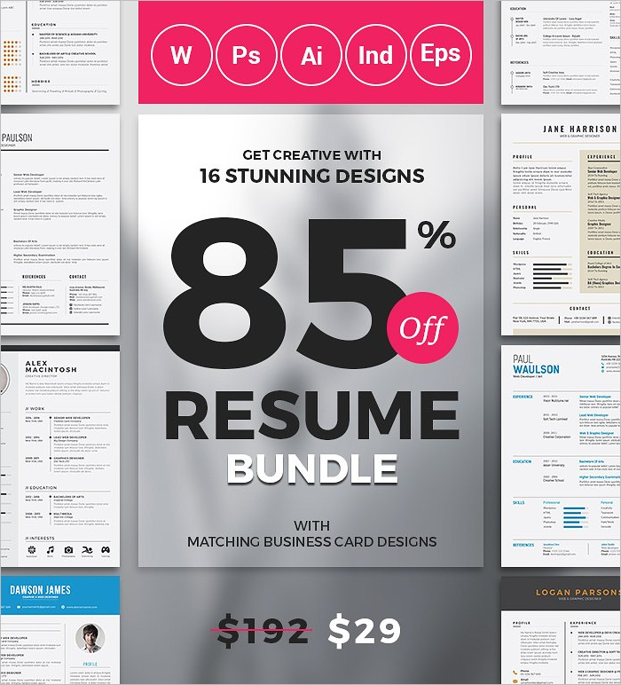 Selling Resume Design Template