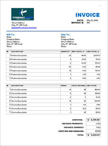 Service-and-product-invoice-with-different-tax-rate