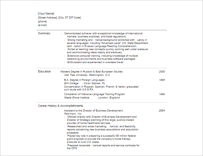 18 functional resume templates free word pdf formats