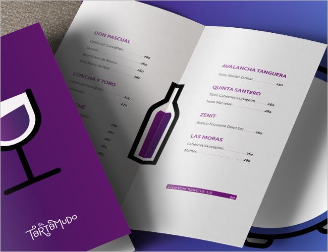 Simple Wine Menu Brochure
