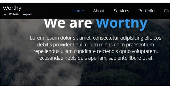 Simple jQuery Website Template