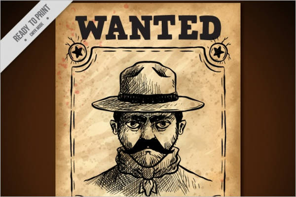 Sketch Of Delinquent Wanted Poster