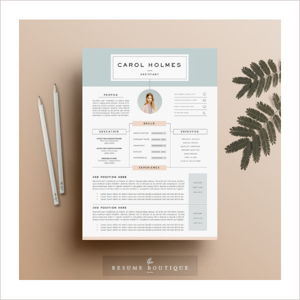 Social Corporate Infographic Resume Elements Data Template