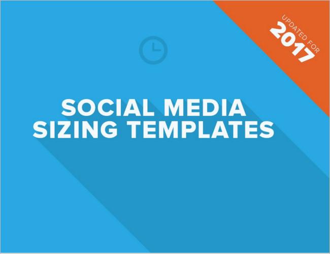 Social Media Sizing Banner Templates