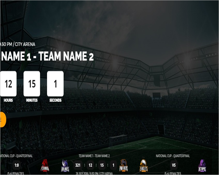 Sport & Gaming Club Bootstrap Theme