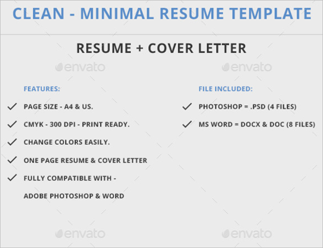 Stationery Functional Resume Templates