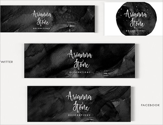 Stone Banner Template