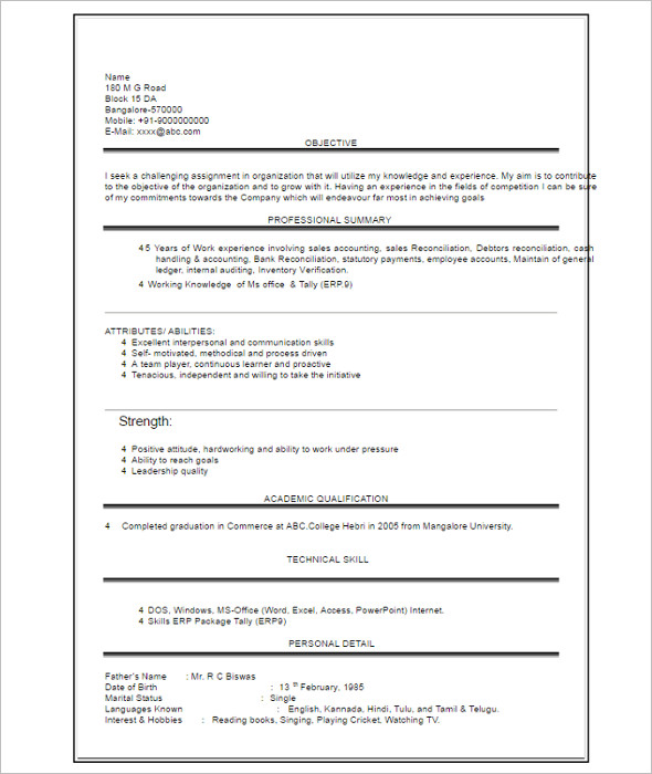 Student Graduate Resume Template