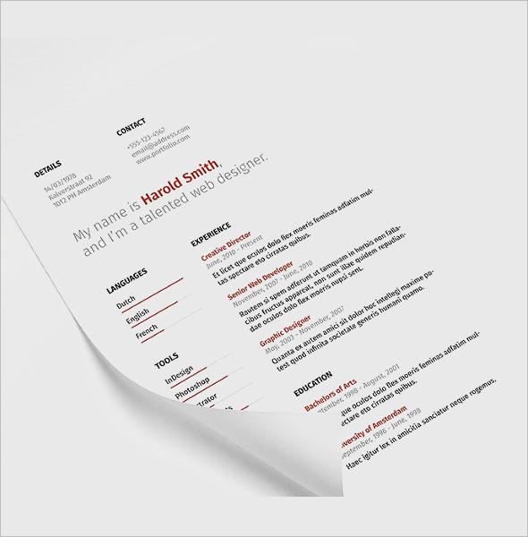 Student Resume CoverLetter Template