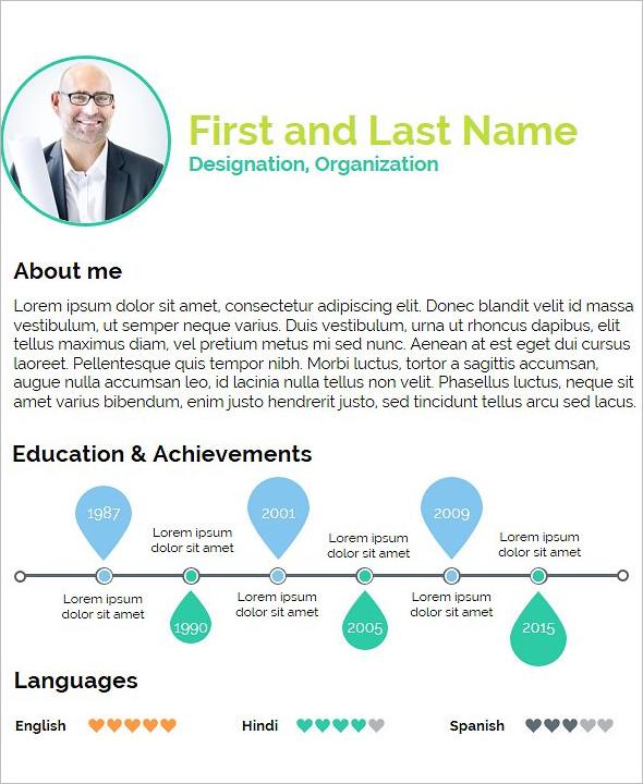 Student Resume Presentation Template