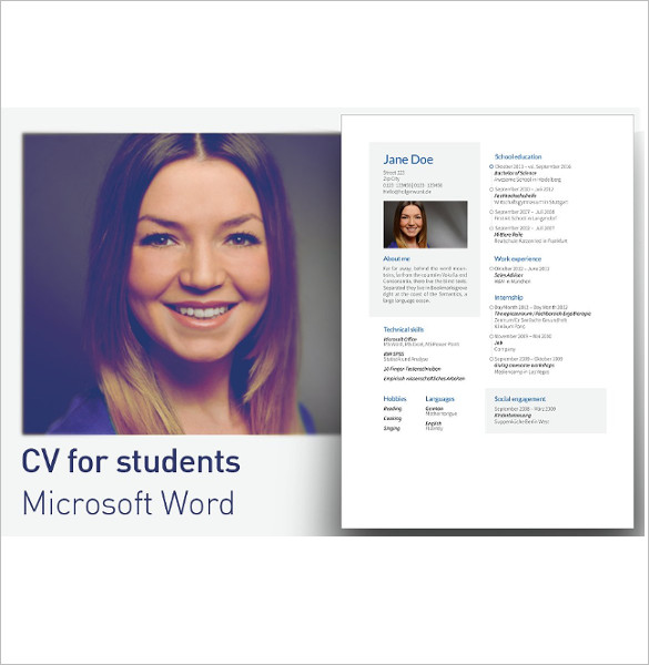 Student Resume Template Document