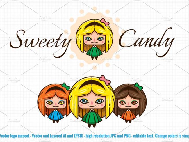 Sweet Candy Mascot