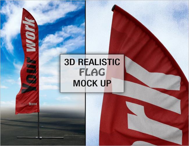 Swooper Flag Mockup PSD