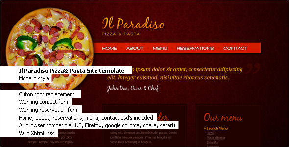 Tasty Restaurant Website Template