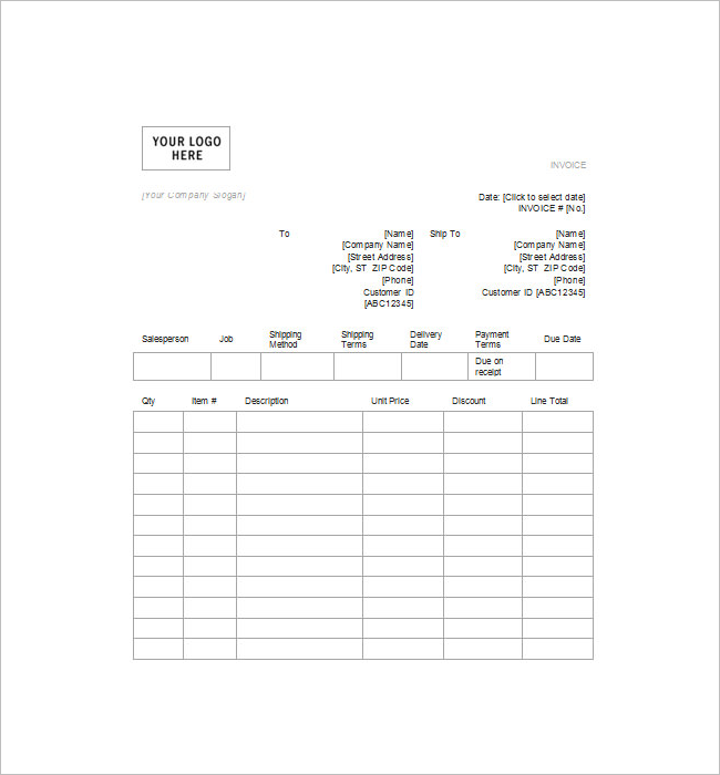 Tax Invoice Model Template Format