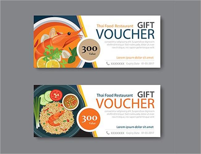 Thai Food Festival Voucher Template