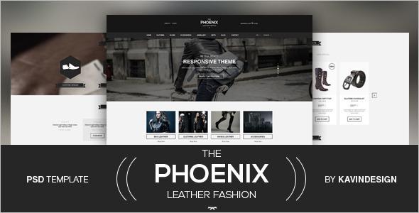 The Phoenix Leather Fashion WooComerce Theme.