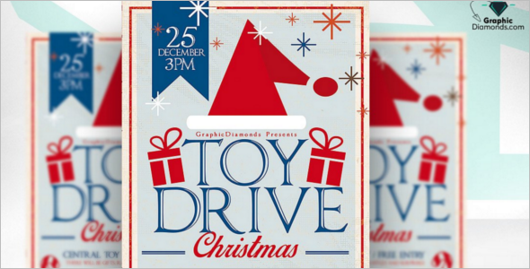 Toy Drive Game Flyer