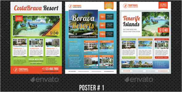Travel Holiday Poster Bundle Template
